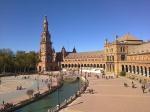 Plaza de España vue de la terrasse de la Capitania